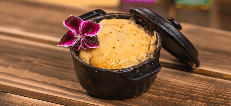 Запеченное суфле с корочкой из голландского сыра